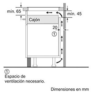 medidas balay 3EB965FR espacio ventilacion